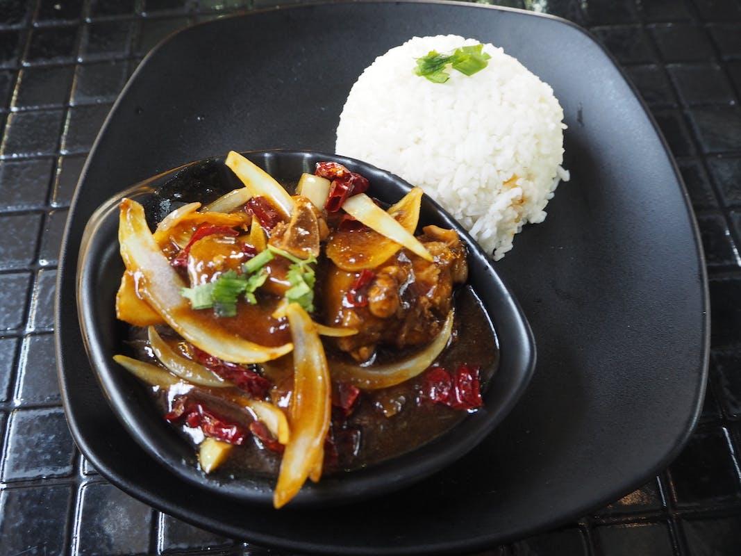 Dry Chilli Chicken Kung Po Rice