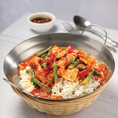 Sambal Chicken/Seafood Rice
