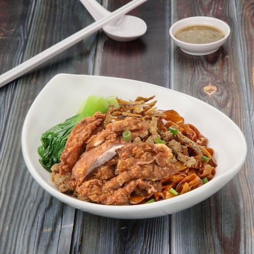 Crispy Chicken Noodles + 3 Wanton