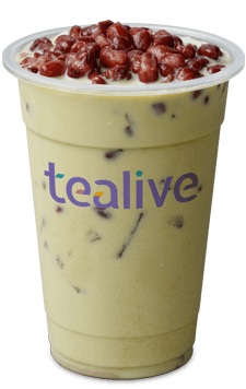 Nishio Matcha Milk Tea with Red Bean