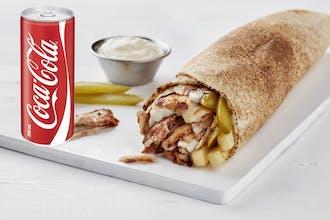 Chicken Shawarma (R) with Cola