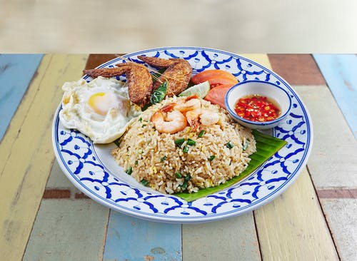 R20 Bangkok Fried Rice with Tasty Chicken Wings