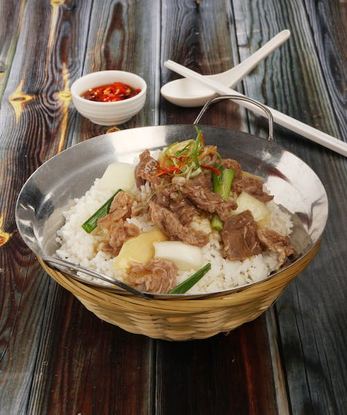Ginger Onion Beef Rice