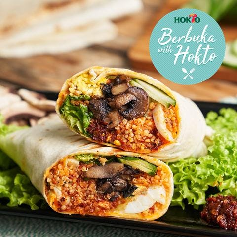 Quinoa Lemak Wrap (Spicy) (696 kcal)