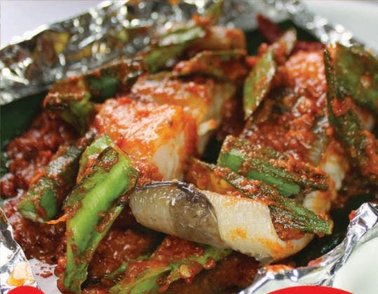 Grilled Pari with Vegetables