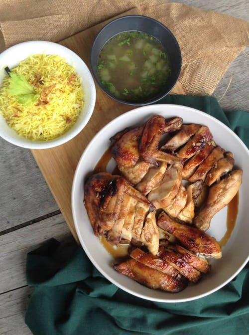 Honey Glazed Chicken Rice