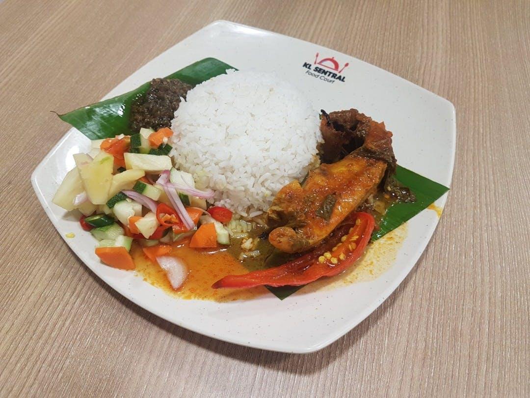 Nasi Putih Asam Pedas