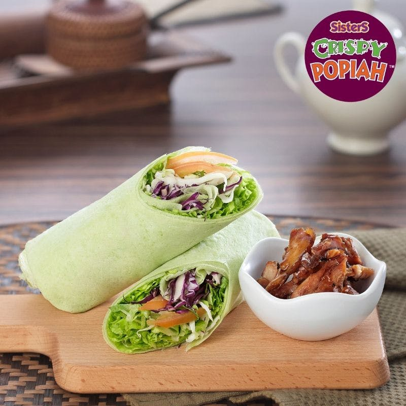 Teriyaki Chicken Salad Popiah