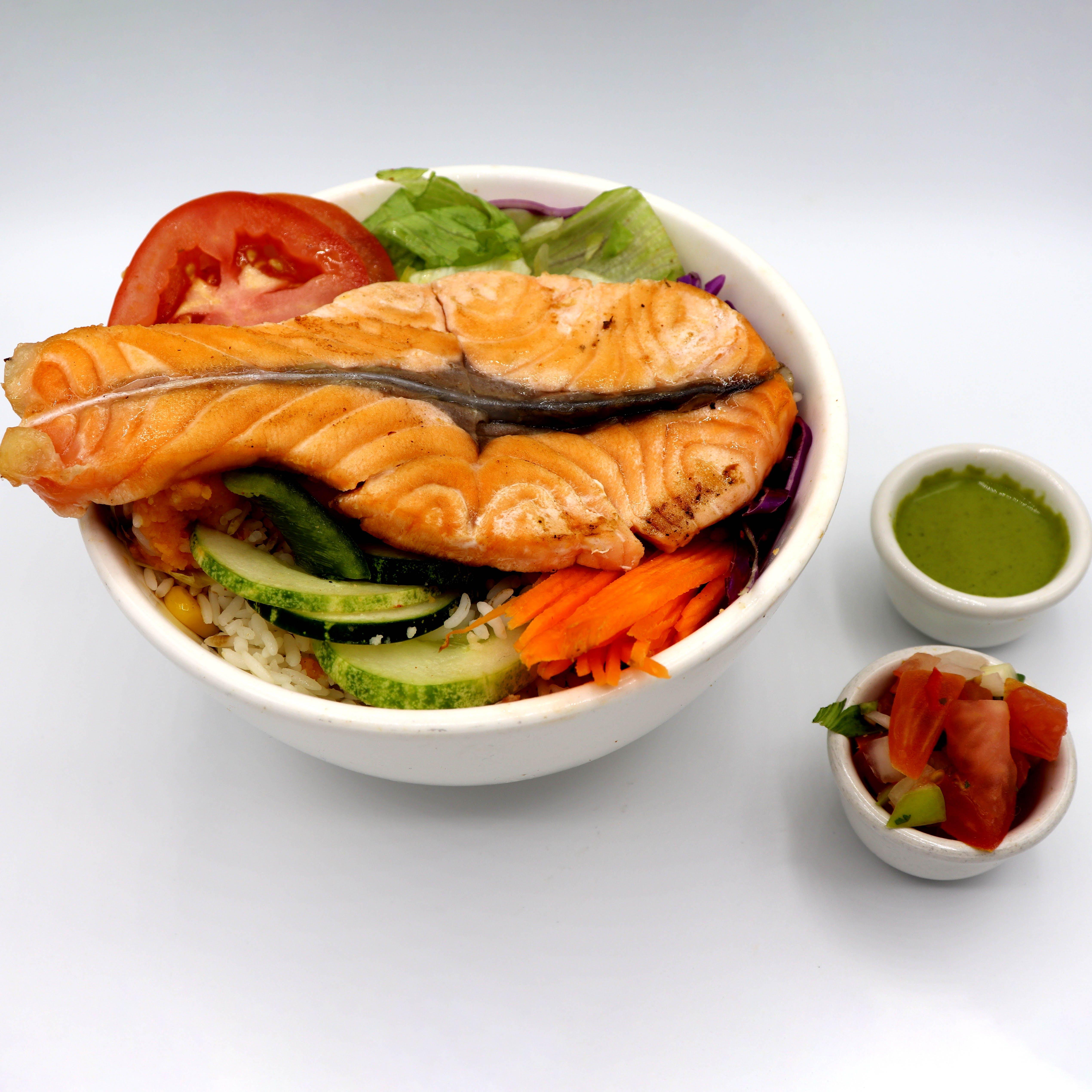 Salmon Fish Fillet Bowl