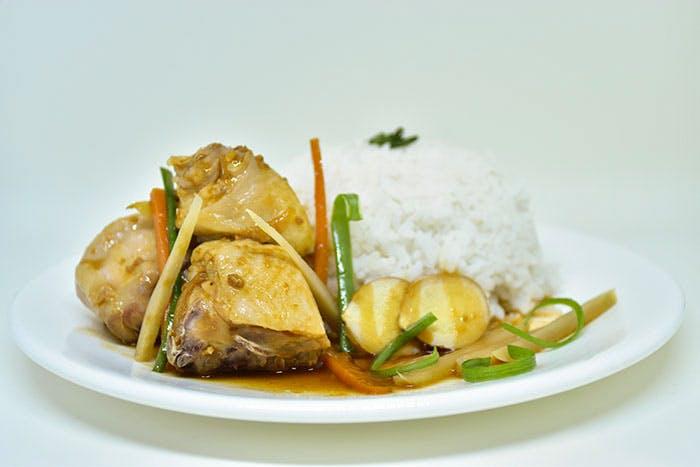 Ginger Onion Chicken Rice