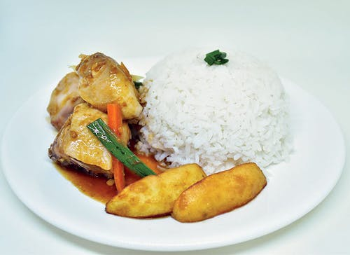 Potatoes Chicken Rice